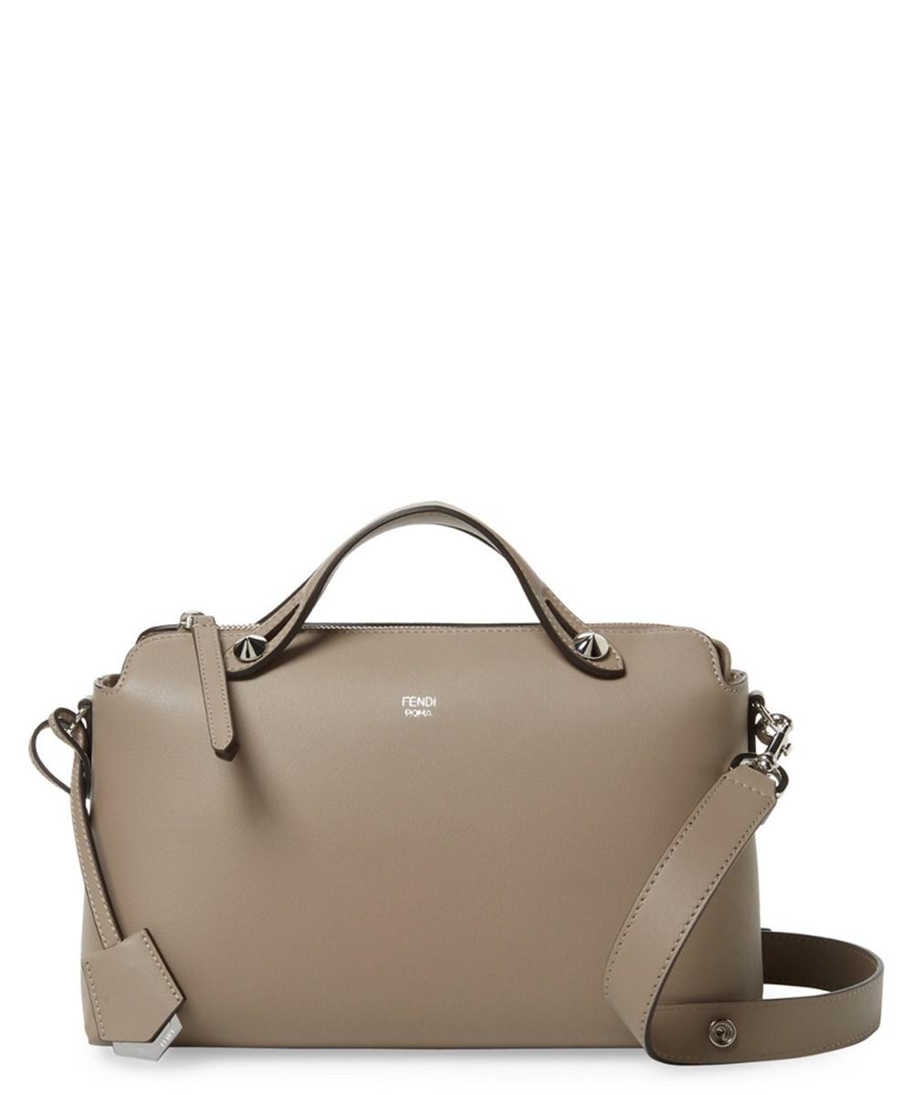 617eadd30f5b ... official lyst fendi by the way small leather boston bag in brown 41868  c6ffb