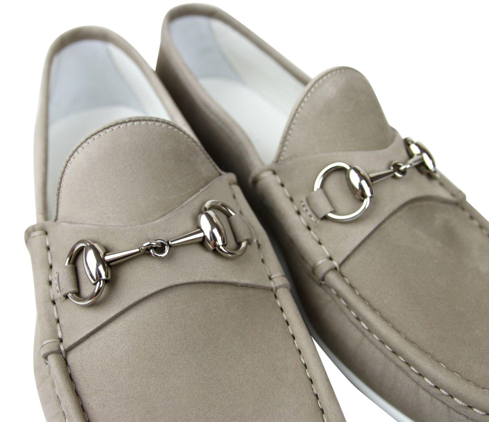4d2bd933acf Gucci - Natural Moccasin Suede Horsebit Loafer 337060 Bho00 for Men - Lyst.  View fullscreen