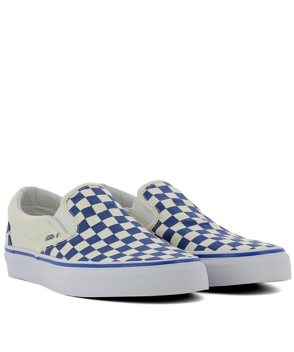 04acb7989112 Lyst - Vans Men s White blue Fabric Slip On Sneakers in White for Men