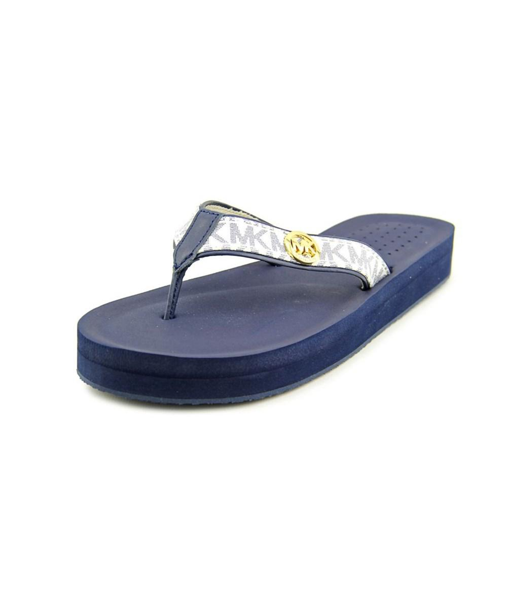 73059d901f188d Lyst - Michael Michael Kors Gage Flip Flop Women Synthetic Blue Flip ...