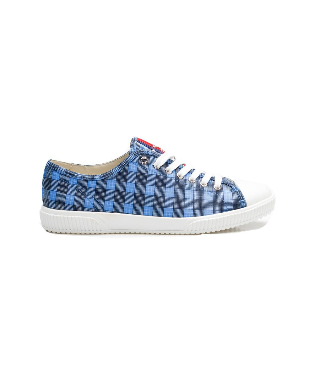 prada shoes for men red & white plaid
