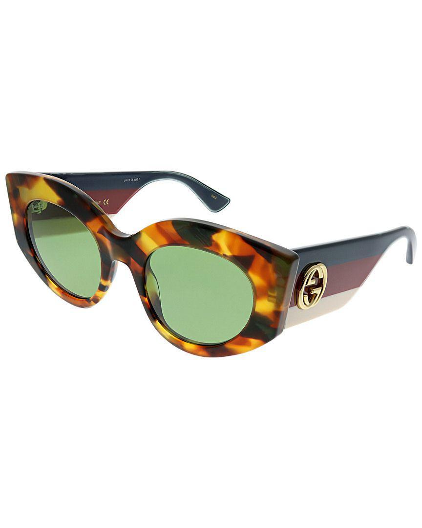 dd381f8740 Lyst - Gucci Women s Cat-eye 50mm Sunglasses in Brown