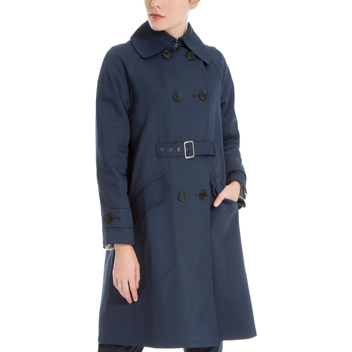 02b9415469a Max Studio Womens Roxanne Fall Midi Trench Coat in Blue - Lyst