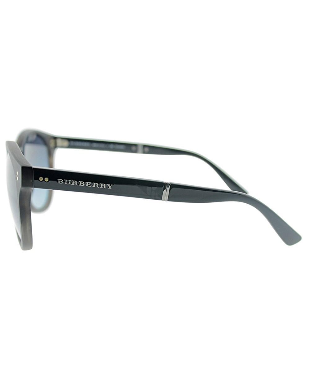 732b155842 Burberry - Gray Foldable Be 4221 3596k4 55 Matte Grey Havana Round  Sunglasses - Lyst. View fullscreen