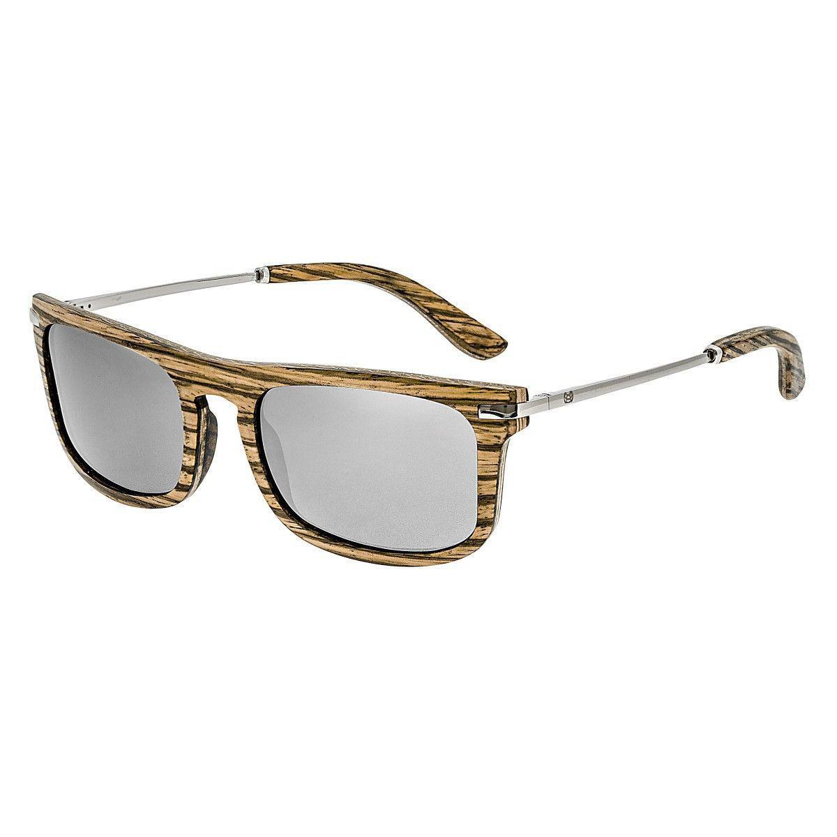 Earth Wood Del Carmen Sunglasses w// Polarized Lenses Maple /& Ebony//Gold