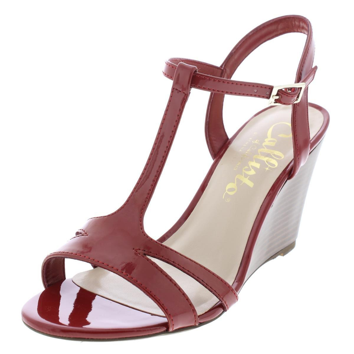 04181858b4c Lyst - Callisto Womens Upright Patent Wedge Sandals in Red