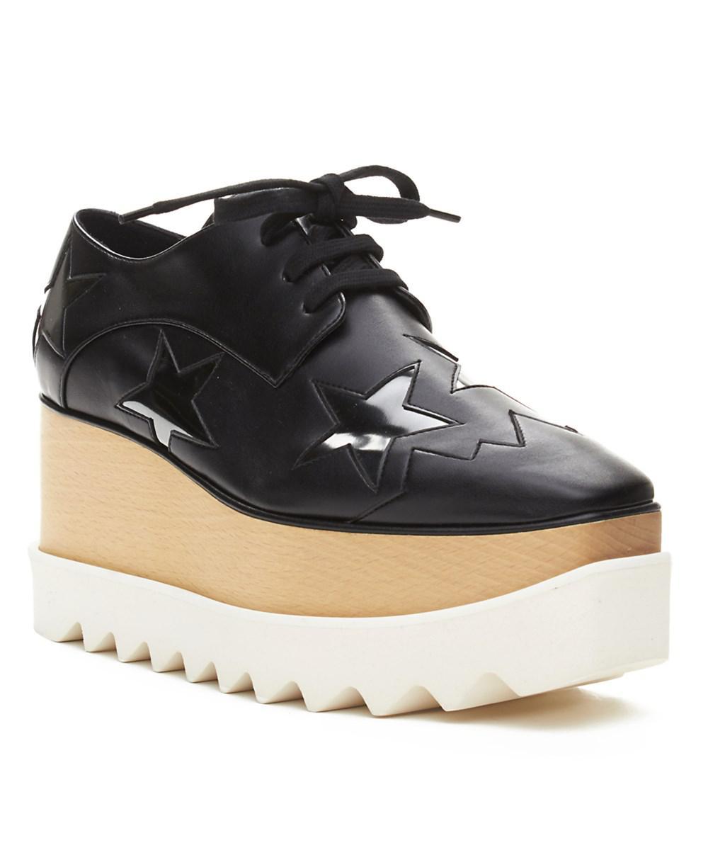 00fce55eee6 Lyst - Stella Mccartney Women s Elyse Brogue Platform Creeper Shoes ...