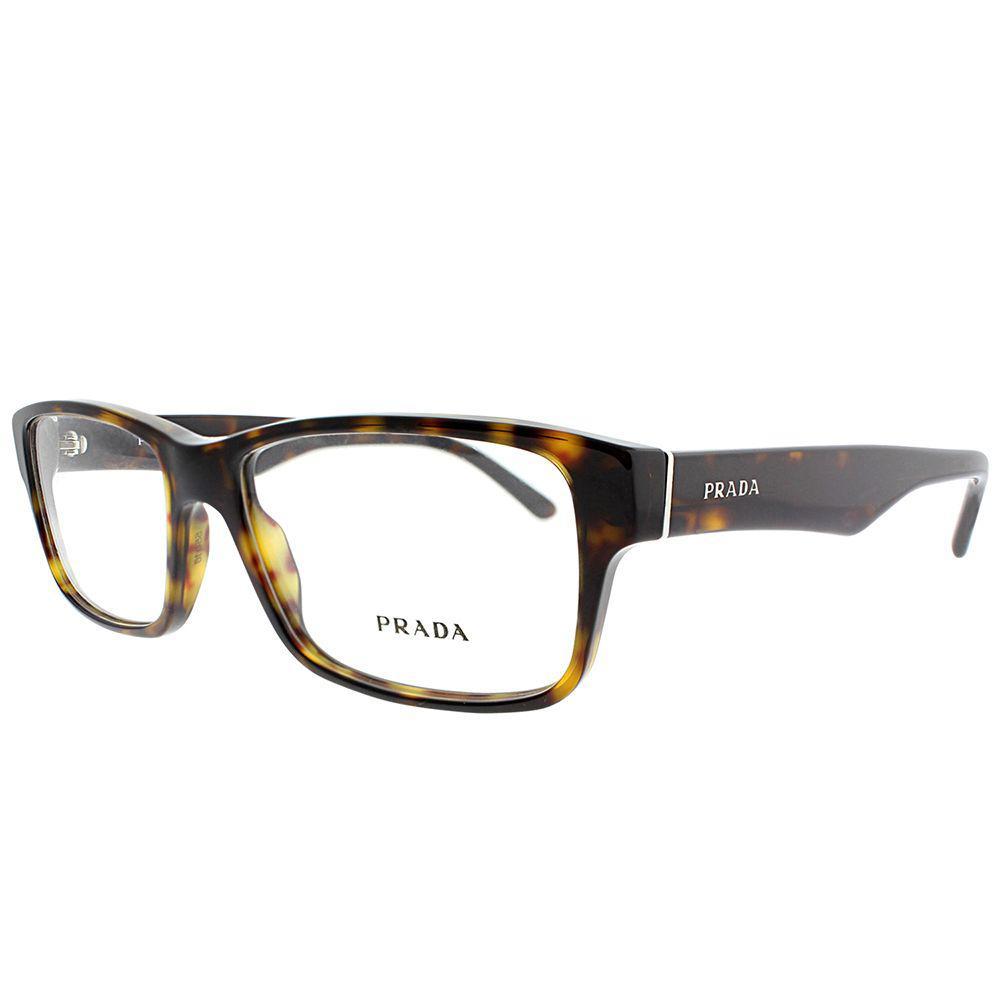 36b16a0176 Prada - Multicolor Pr 16mv 2au1o1 55mm Havana Rectangle Eyeglasses - Lyst.  View fullscreen
