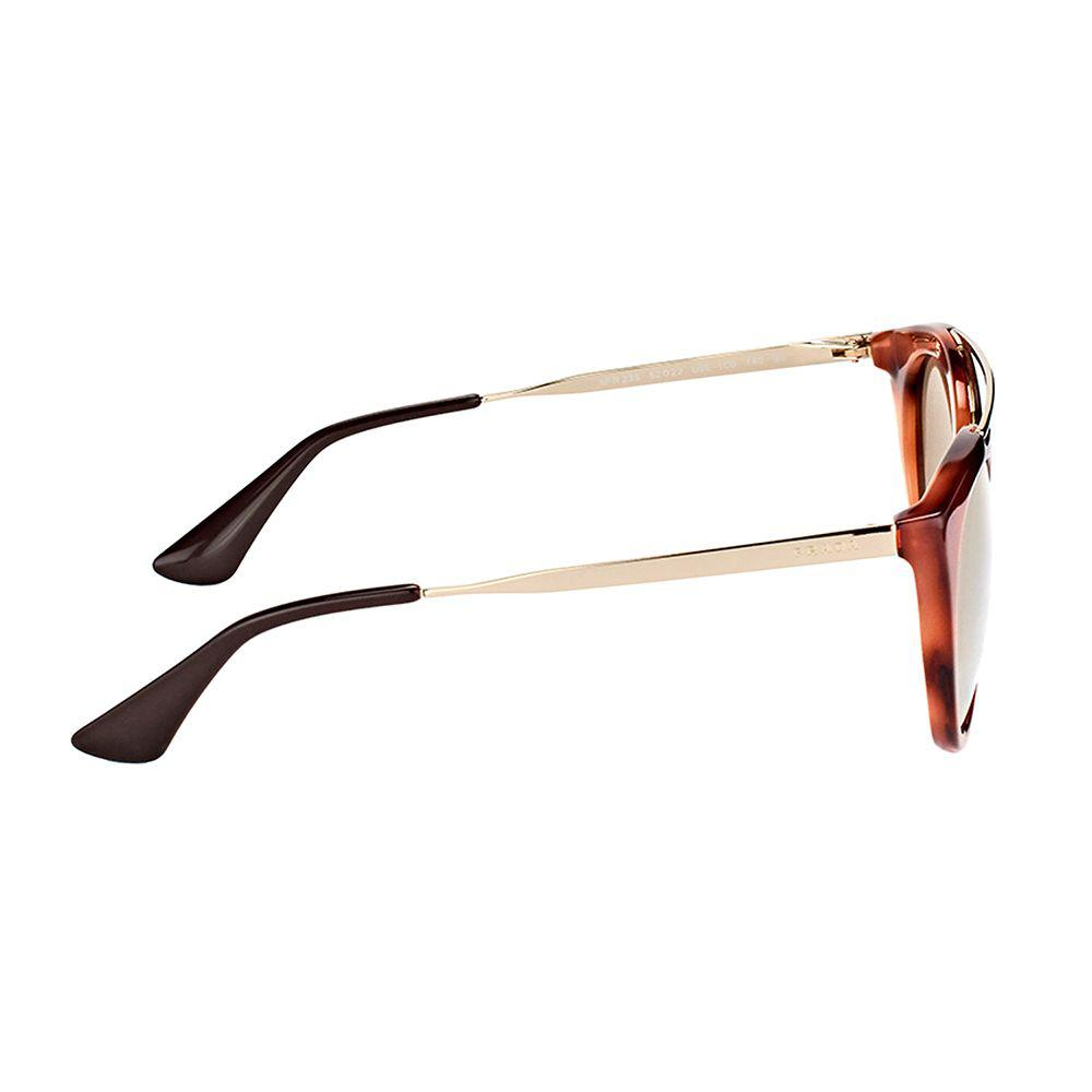 057cdb36c5 Prada - Cinema Pr 23ss Use1c0 Striped Brown Round Sunglasses - Lyst. View  fullscreen