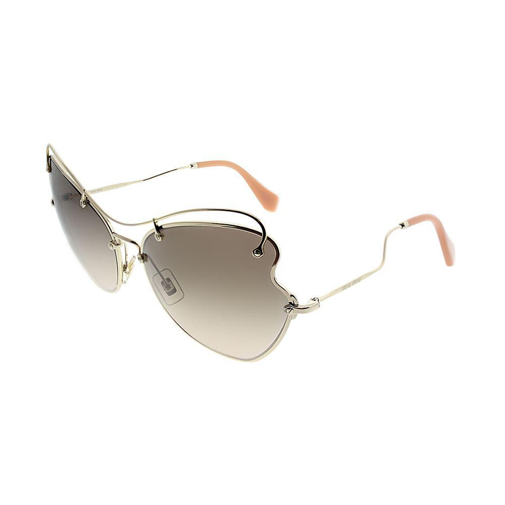 b1d9482c6cd Miu Miu. Women s Metallic Scenique Collection Mu 56rs Zvn3d061 Pale Gold  Cat-eye Sunglasses