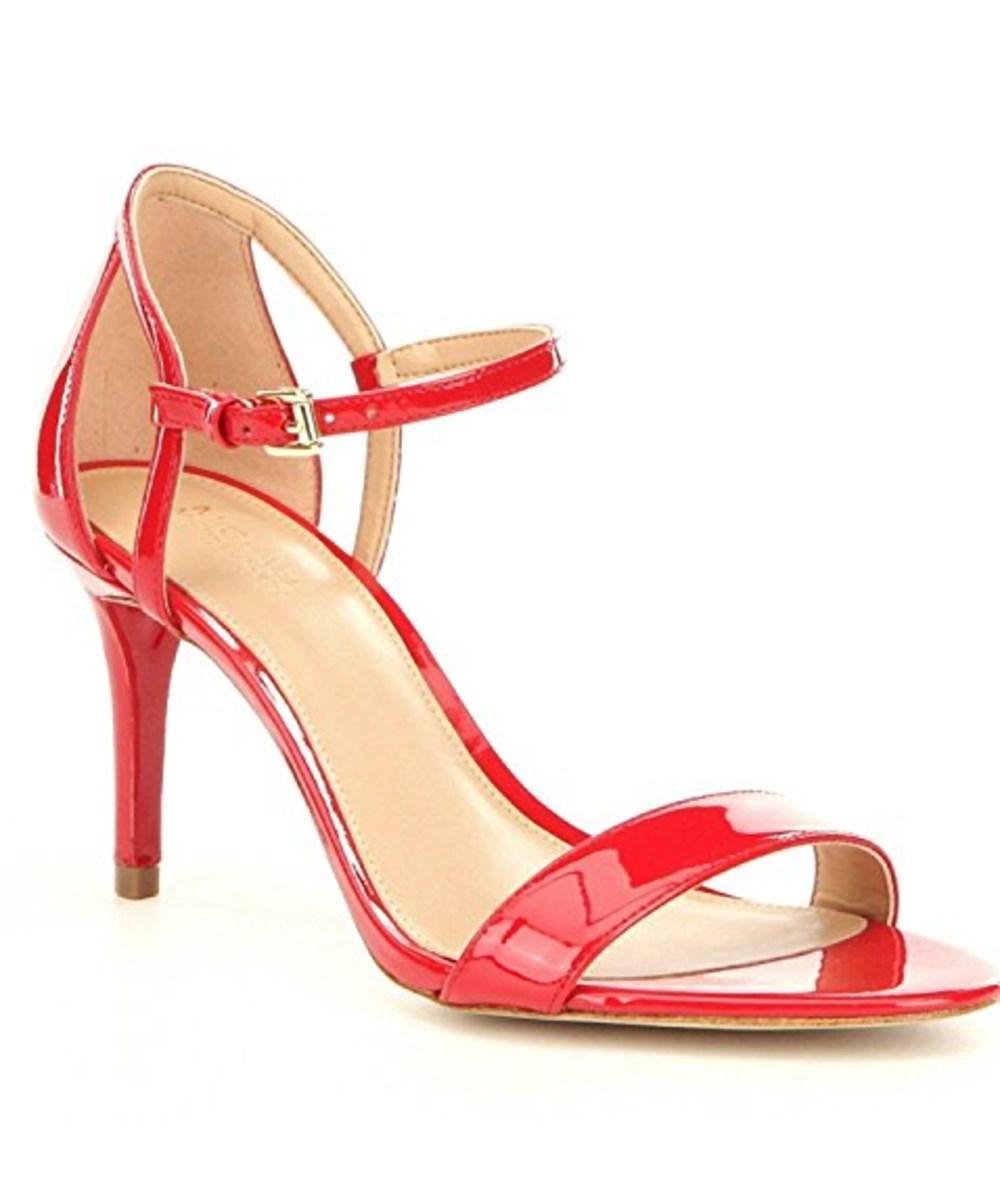 1c269ff43814 Lyst - Michael Michael Kors Womens Simone Leather Open Toe Ankle ...