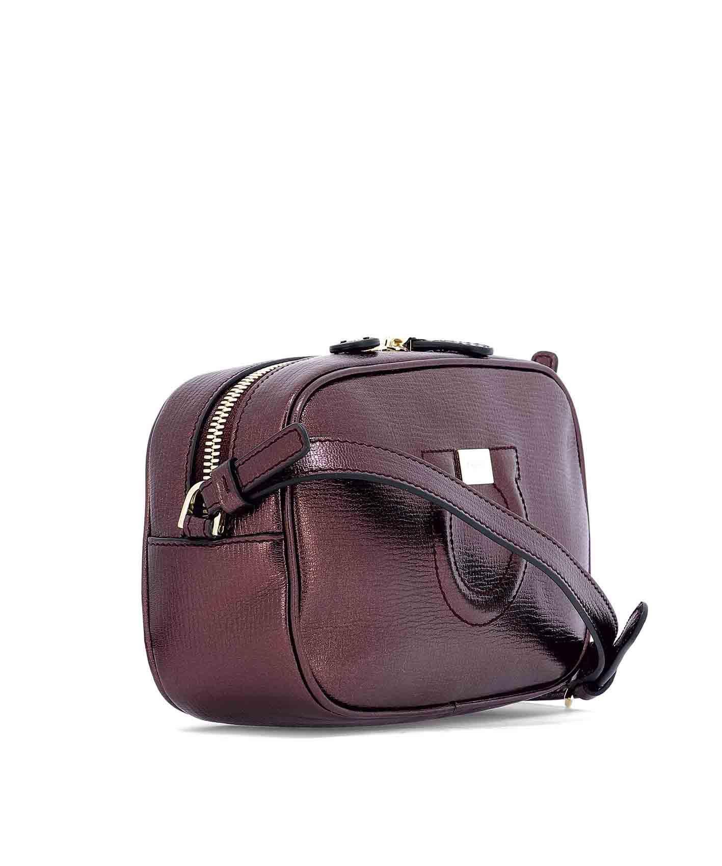 Lyst - Ferragamo Women s Purple Leather Shoulder Bag in Purple ba9d287d3a11b