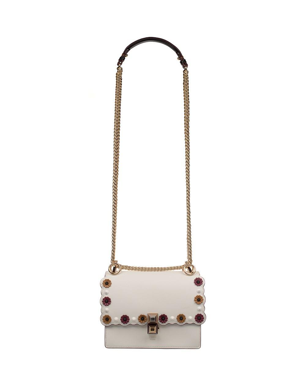 9f45acb5cb Lyst - Fendi Women s White Leather Shoulder Bag in White