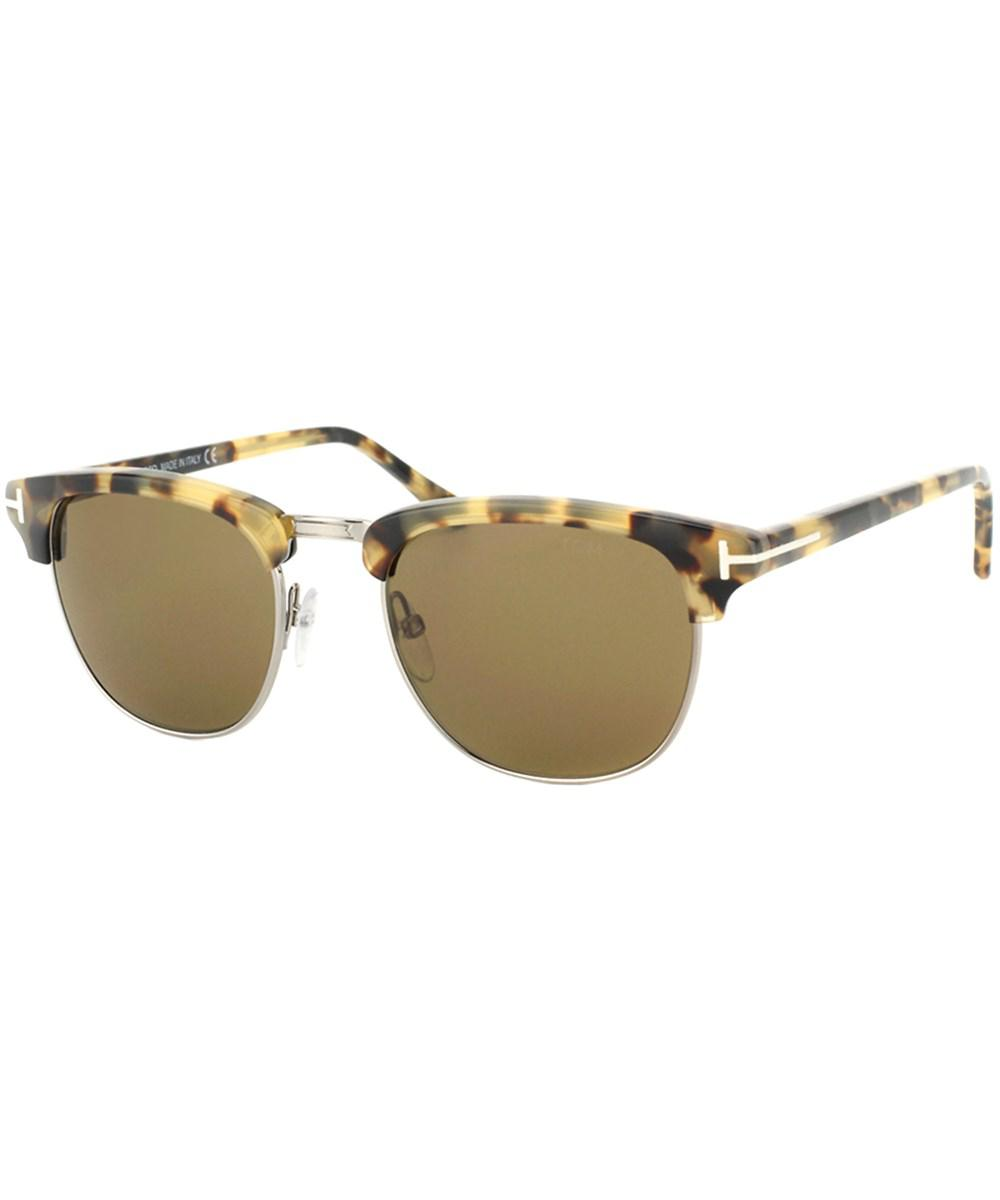 3d56753384f Lyst - Tom ford Henry Round Plastic Sunglasses in Brown - Save 11%
