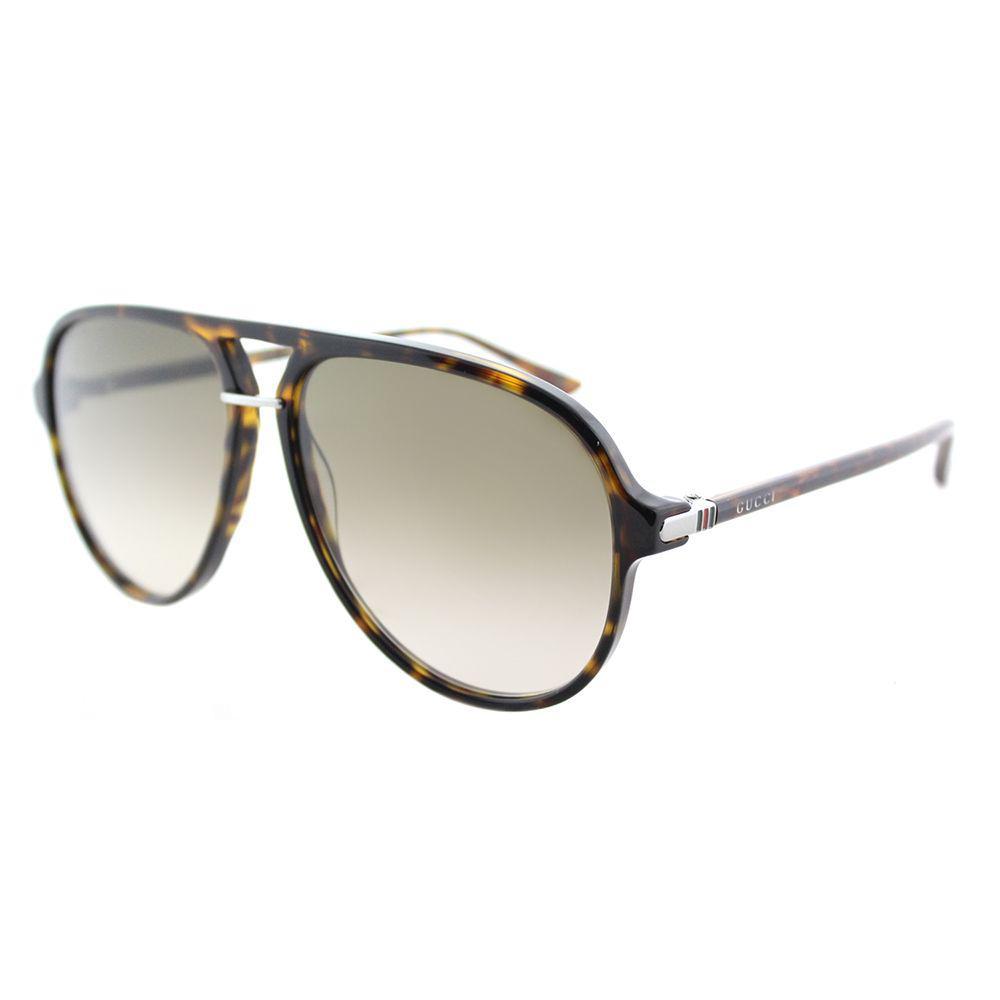 6b81d885d0c19 Gucci. Women s Gg0015s 002 Havana Aviator Sunglasses