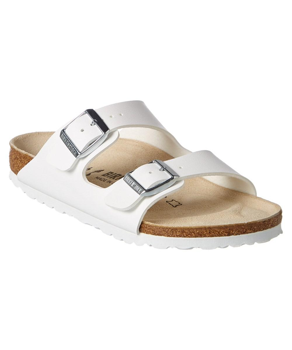 5b8ede1eeb08 Lyst - Birkenstock Arizona Birko-flor Leather Narrow Sandal in White