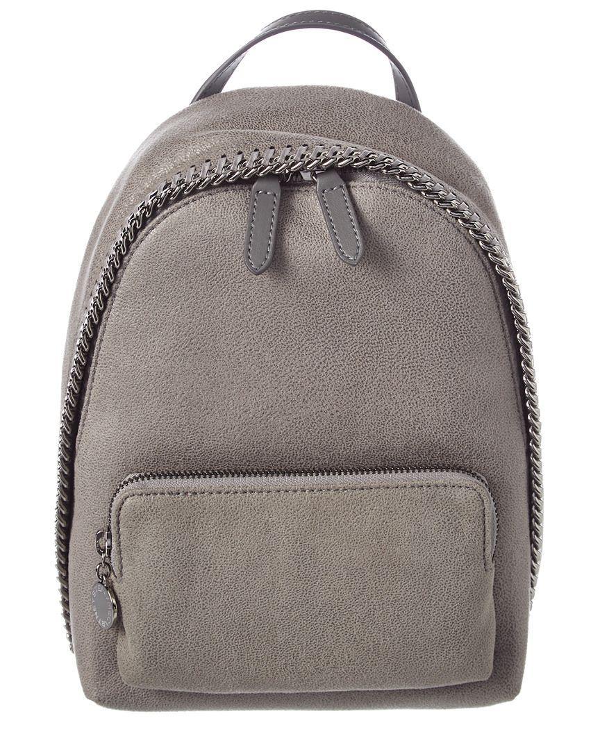 1fbdcd1bcb6e Lyst - Stella Mccartney Mini Falabella Shaggy Deer Backpack in Gray