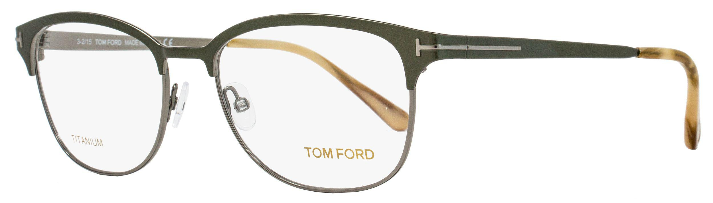 ac8da39a7ab Tom Ford - Multicolor Oval Eyeglasses Tf5381 093 Size  54mm Olive  Green ruthenium Ft5381. View fullscreen