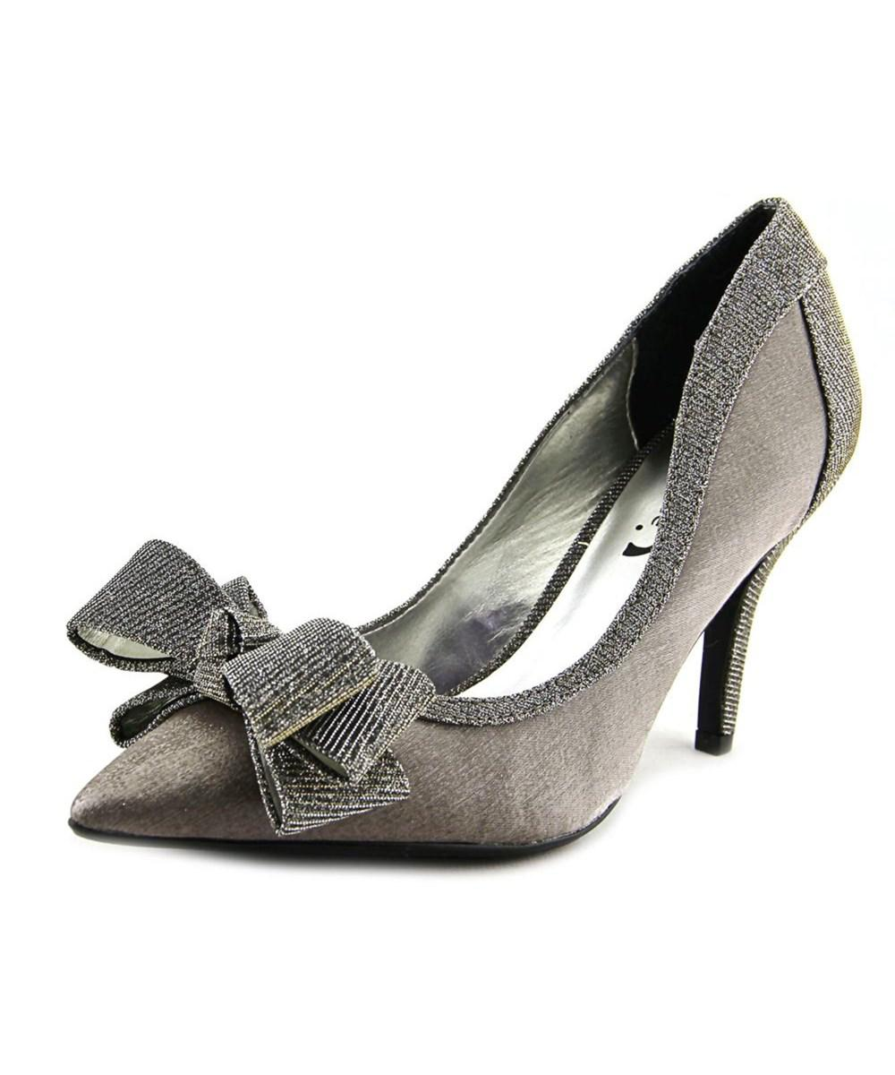 J. reneé J. Renee Amazze Women Pointed Toe Canvas Silver Heels in ...