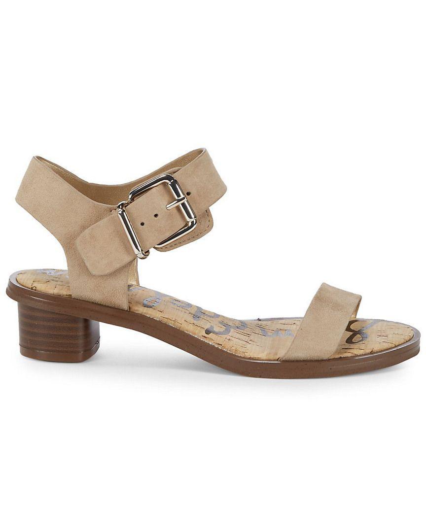 0210a3bee Lyst - Sam Edelman Trina Heeled Leather Open Toe Sandal - Save  35.8974358974359%