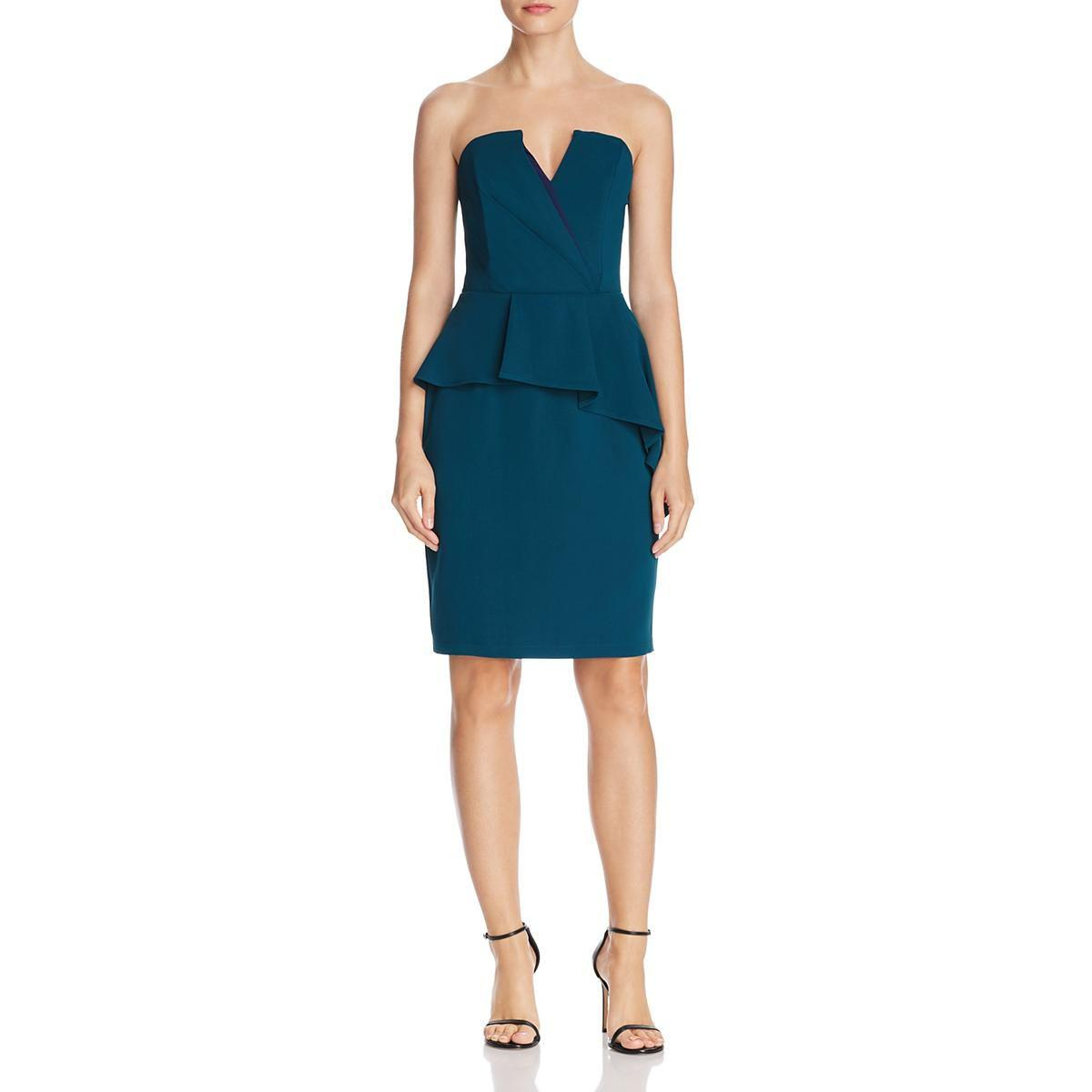 Lyst - Adelyn Rae Womens Strapless Special Occasion Party Dress in Blue e319e4d41