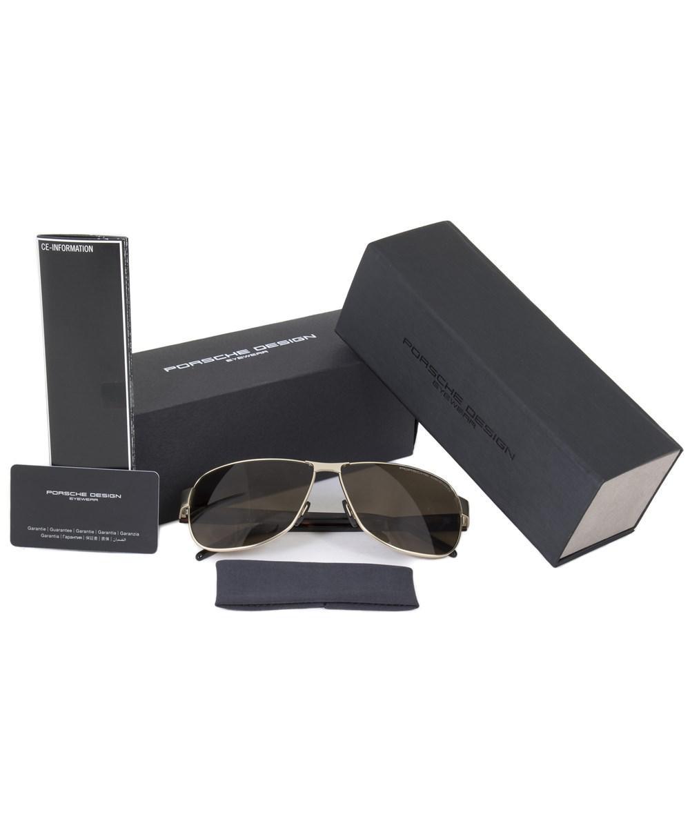 731dcb06f68 Lyst - Porsche Design Design P8633 B 61 Aviator Sunglasses For Men ...