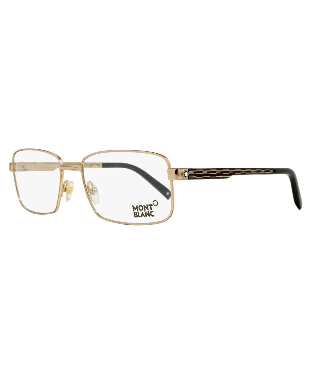 d6426afe1677 Lyst - Montblanc Rectangular Eyeglasses Mb482 028 Size: 56mm Rose ...