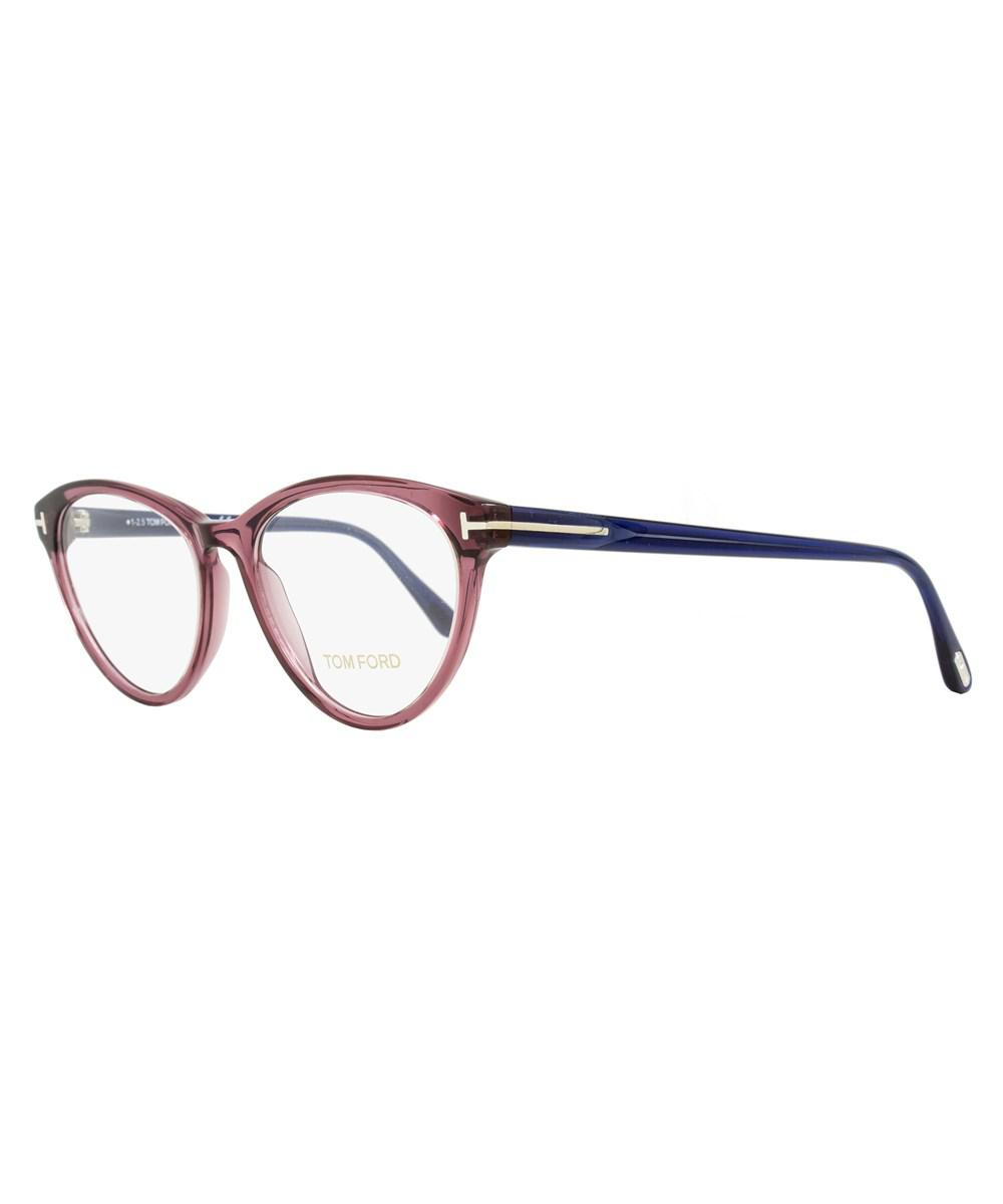 d09a2fce6c Lyst - Tom Ford Oval Eyeglasses Tf5358 075 Size  52mm Wine Red blue ...