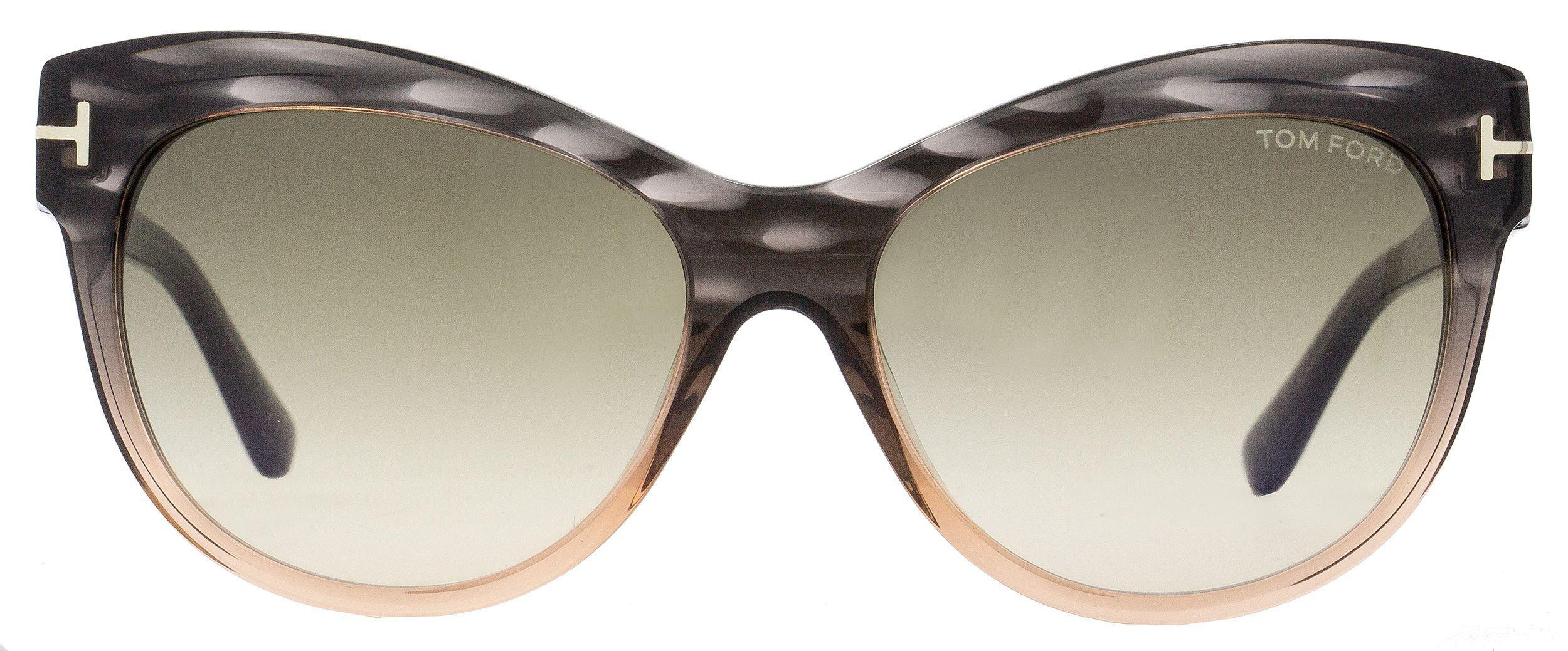 5cff7a3996ca2 Tom Ford - Cateye Sunglasses Tf430 Lily 20p Melange Gray peach Ft0430 -  Lyst. View fullscreen