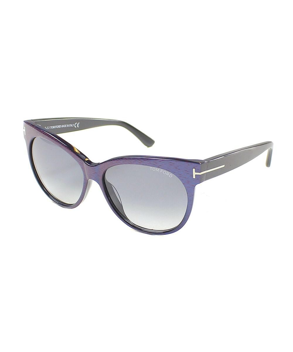 90f7bf8daa4df Tom Ford - Blue Saskia Cat-eye Plastic Sunglasses - Lyst. View fullscreen