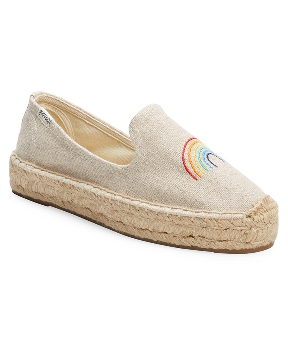 68f4136bf15e Lyst - Soludos Rainbow Embroidered Espadrille