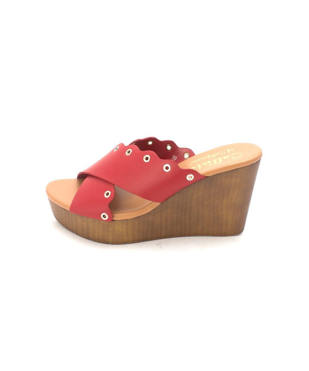 456ff4160380 Lyst - Callisto Womens Darcii Open Toe Casual Platform Sandals in Red
