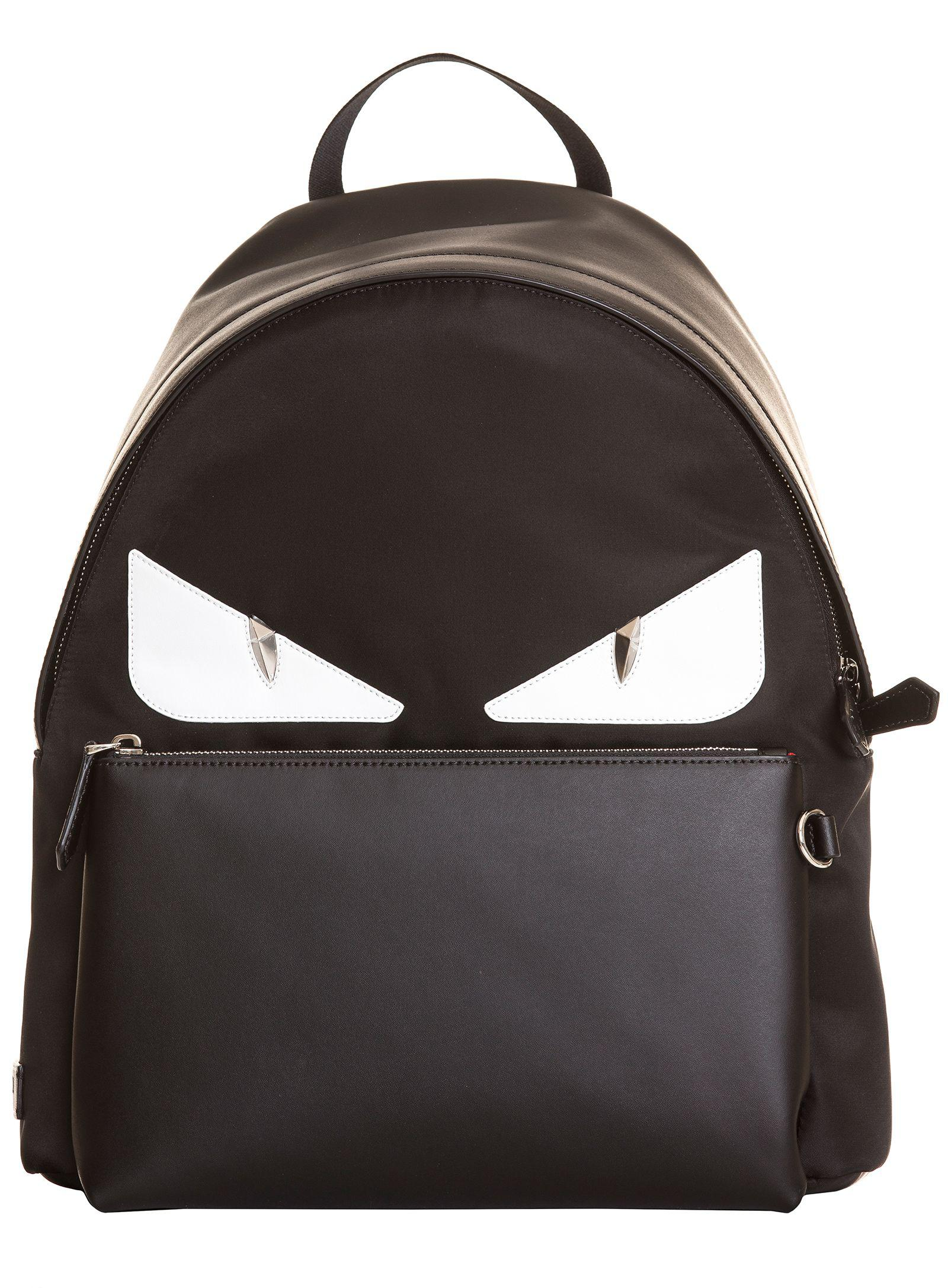 Fendi - Men s Black Leather Backpack for Men - Lyst. View fullscreen 8323cb5a9fac