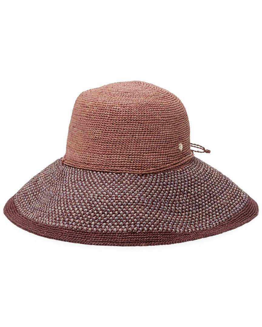 Lyst - Helen Kaminski Provence Bucket Hat in Brown a3b91edc11a4
