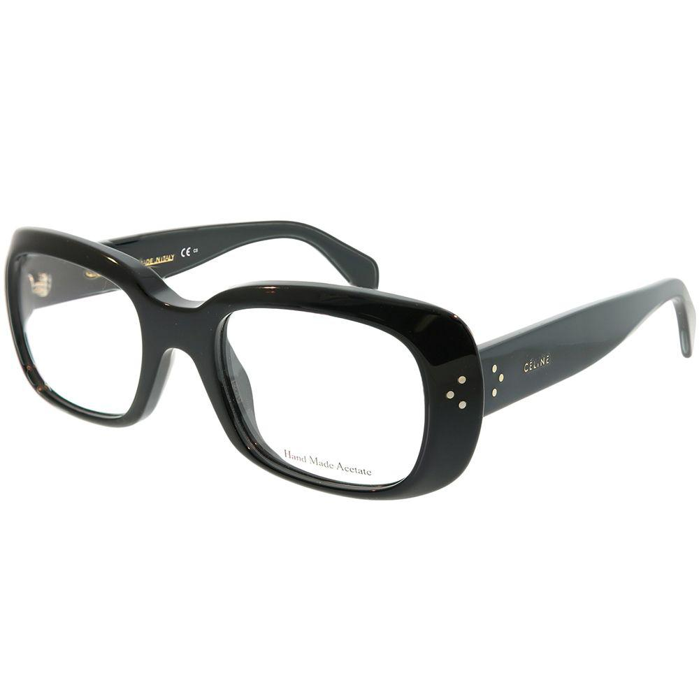 ed60b2ca515 Lyst - Céline Cl 41327 807 Black Rectangle Eyeglasses in Black