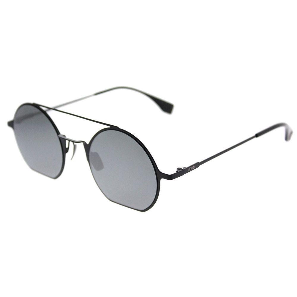 2b74fa06936d Lyst - Fendi Eyeline Ff 0291 807 T4 Black Round Sunglasses in Black