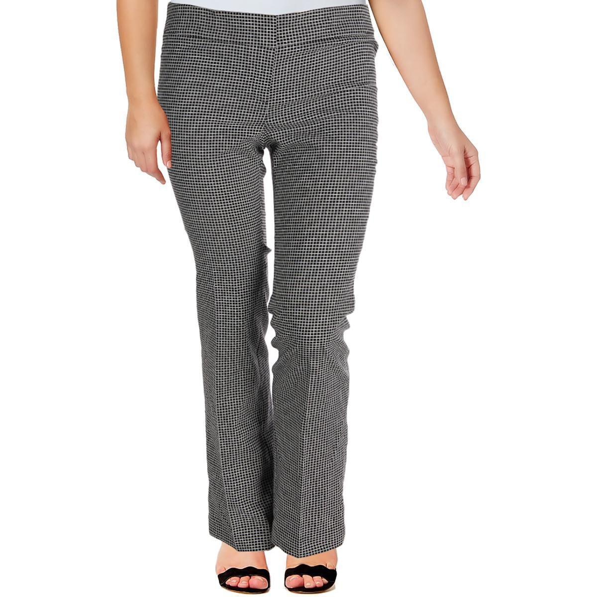 Lyst - Nine West Womens The Trouser Checked No Pockets Dress Pants ... 46b8367ec4