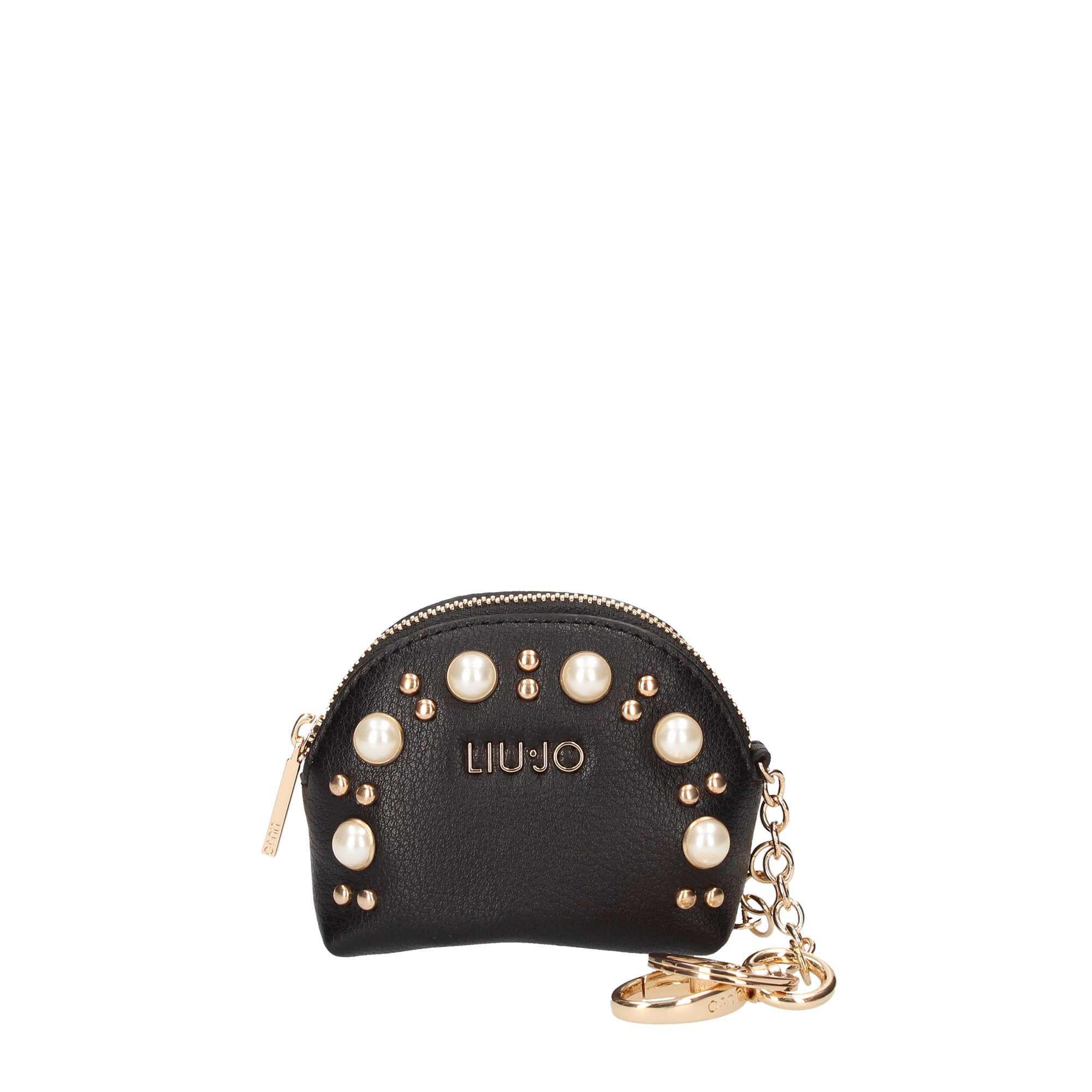 Lyst - Liu Jo Women s Black Faux Leather Key Chain in Black 5980feaf369