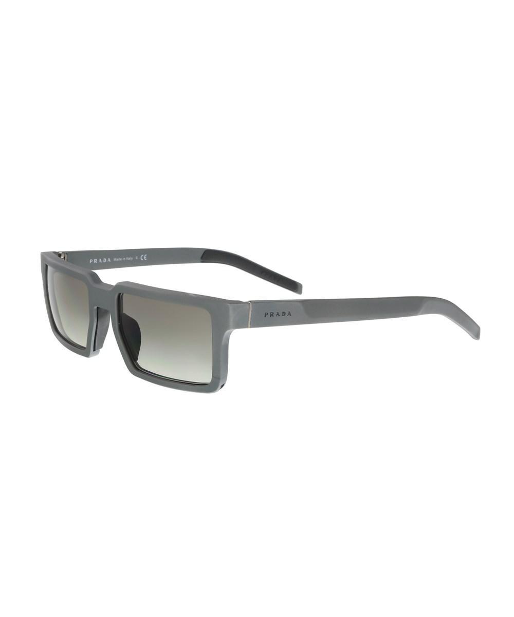 3cf4f1f0da41d coupon for prada linea rossa 50ss aviator sunglasses fd789 dcd36  new  zealand lyst prada pr 50ss uej0a7 grey rectangle sunglasses in gray for men  0cbf8 ...