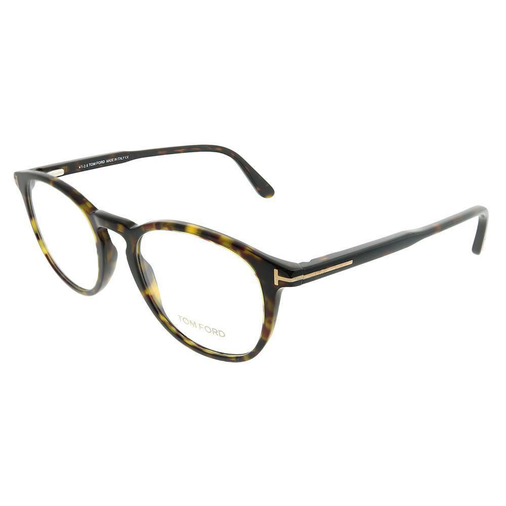 911ee22a02 Lyst - Tom Ford Ft 5401 052 Dark Havana Round Eyeglasses in Brown