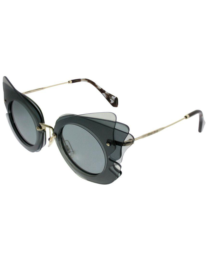 98d2f1745128d Lyst - Miu Miu Women s Mu02ss 63mm Sunglasses in Blue