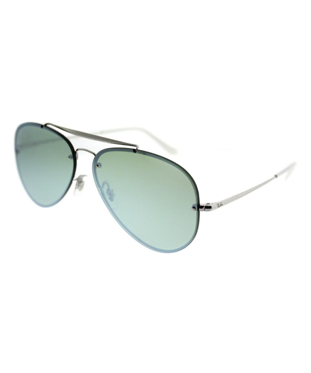 2483041e55 Ray-Ban. Women s Metallic Blaze Aviator 0rb3584n 905130 61mm Silver Aviator  Sunglasses
