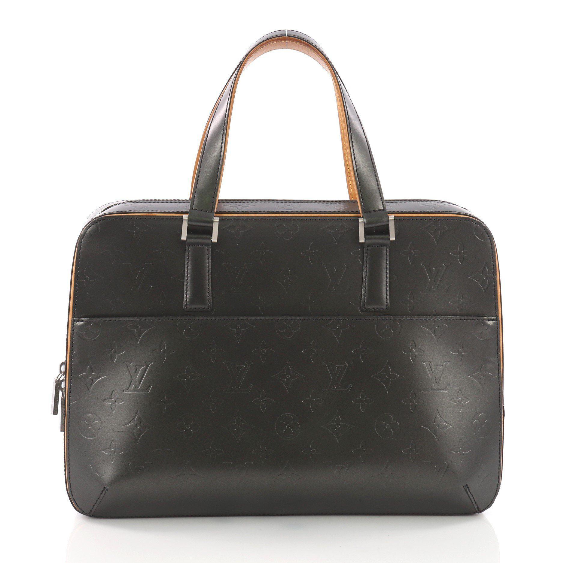 bfd25e9e1c1f Louis Vuitton. Women s Black Pre Owned Mat Malden Handbag Monogram Vernis