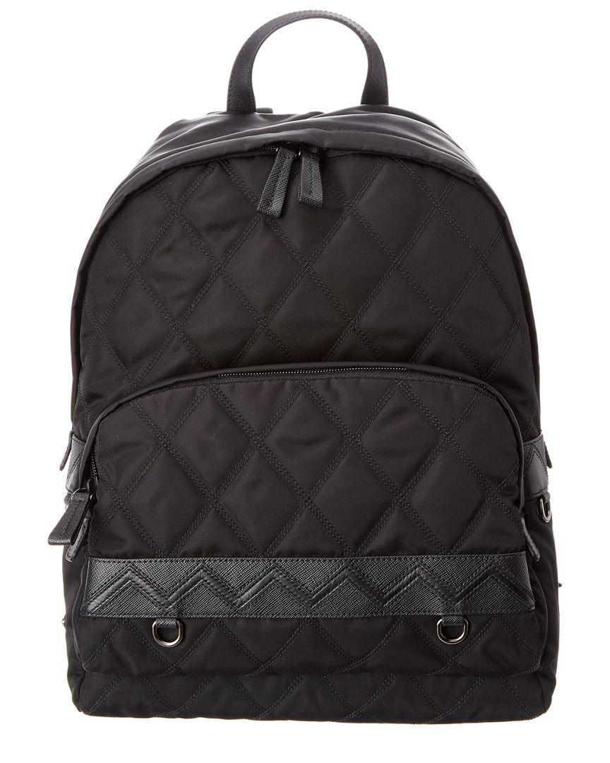 bbc9320ed42c Lyst - Prada Fabric Backpack in Black for Men - Save 40.85526315789474%