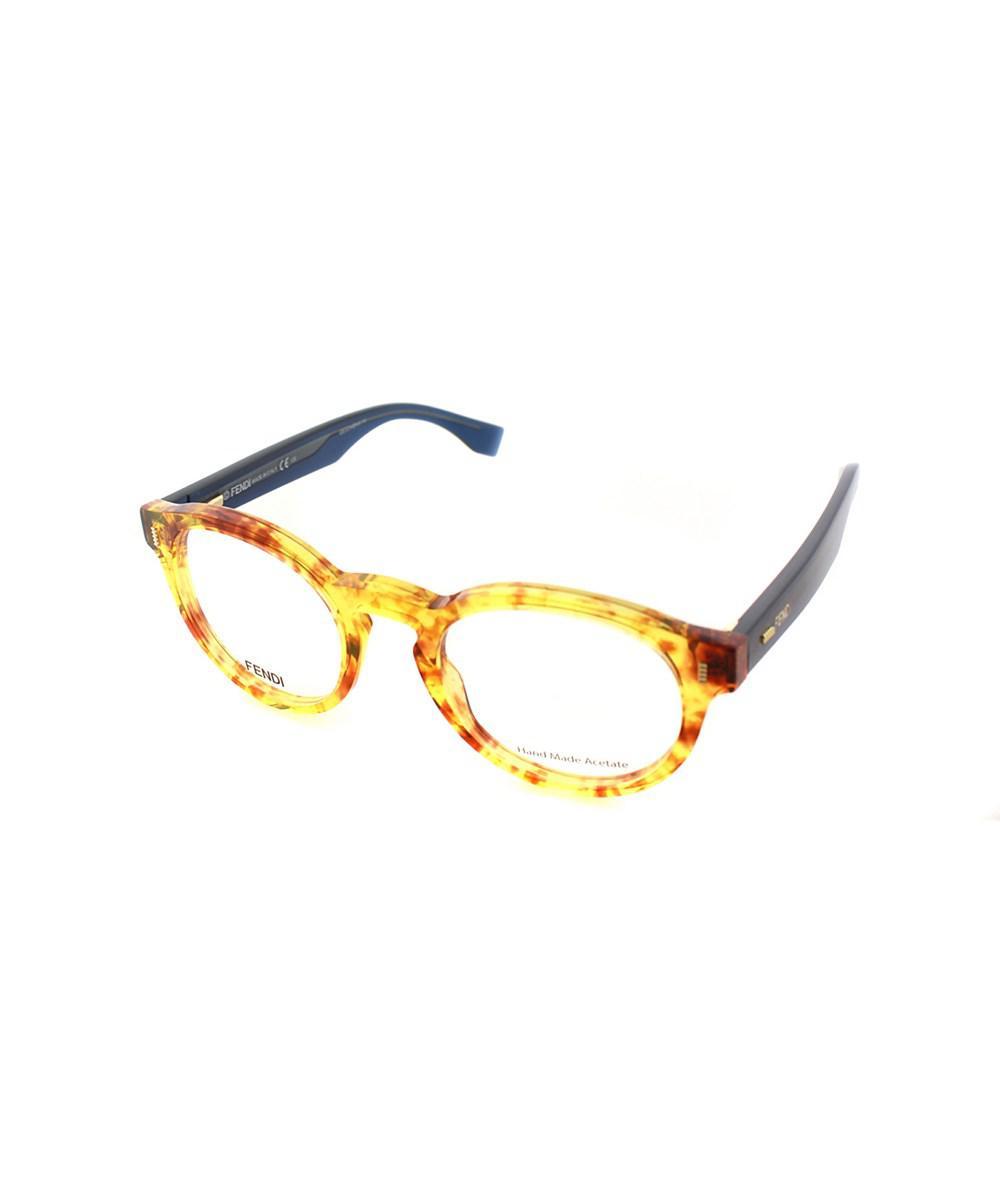 c00c1376348 Lyst - Fendi Round Plastic Eyeglasses in Metallic