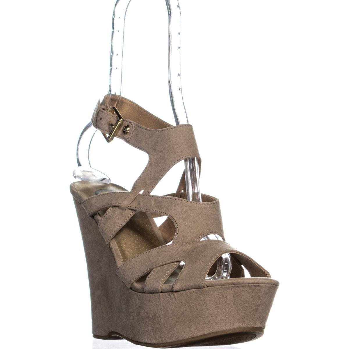 bcbeab0de4afad Guess. Women s G Hizza Strappy Ankle Strap Wedge Sandals ...