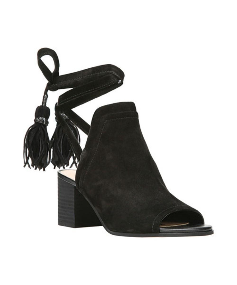 6b9577702f17f Lyst - Sam Edelman Women s Sampson Peep Toe Sandal in Black - Save ...