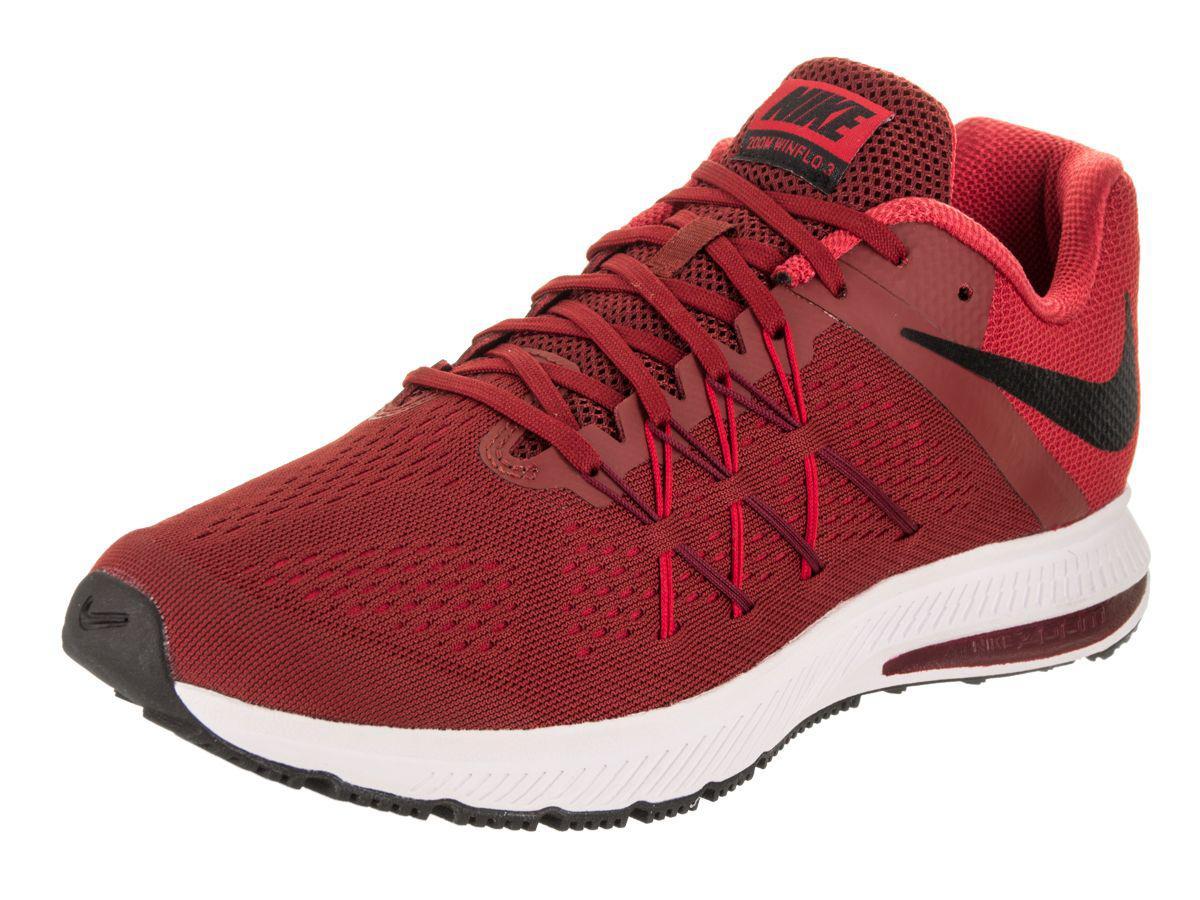 cd758c893248b Lyst - Nike Men s Zoom Winflo 3 Running Shoe in Red for Men