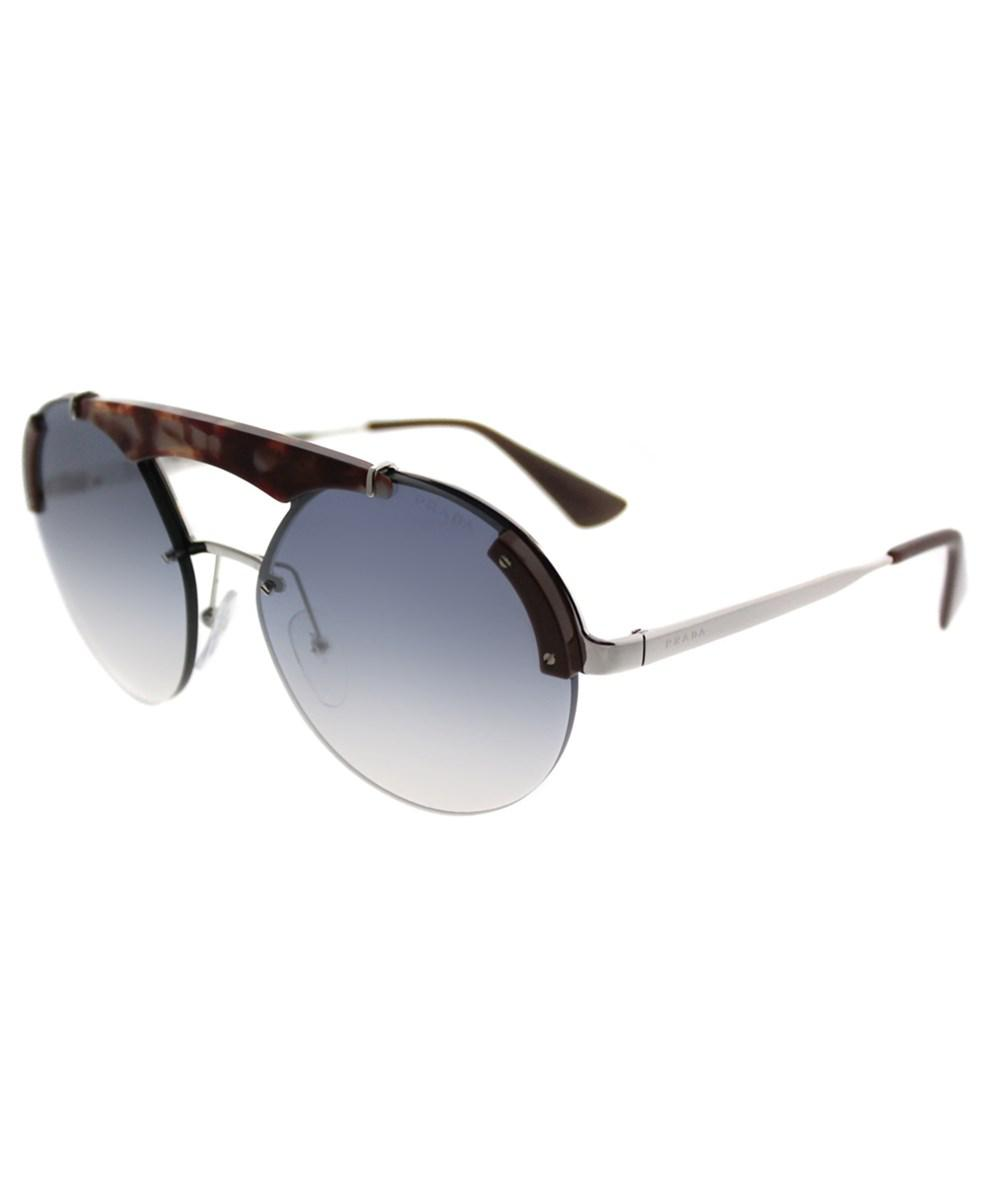 2844566b6f Prada. Women s Metallic Ornate Pr 52us C135r0 Silver pink Havana brown Round  Sunglasses