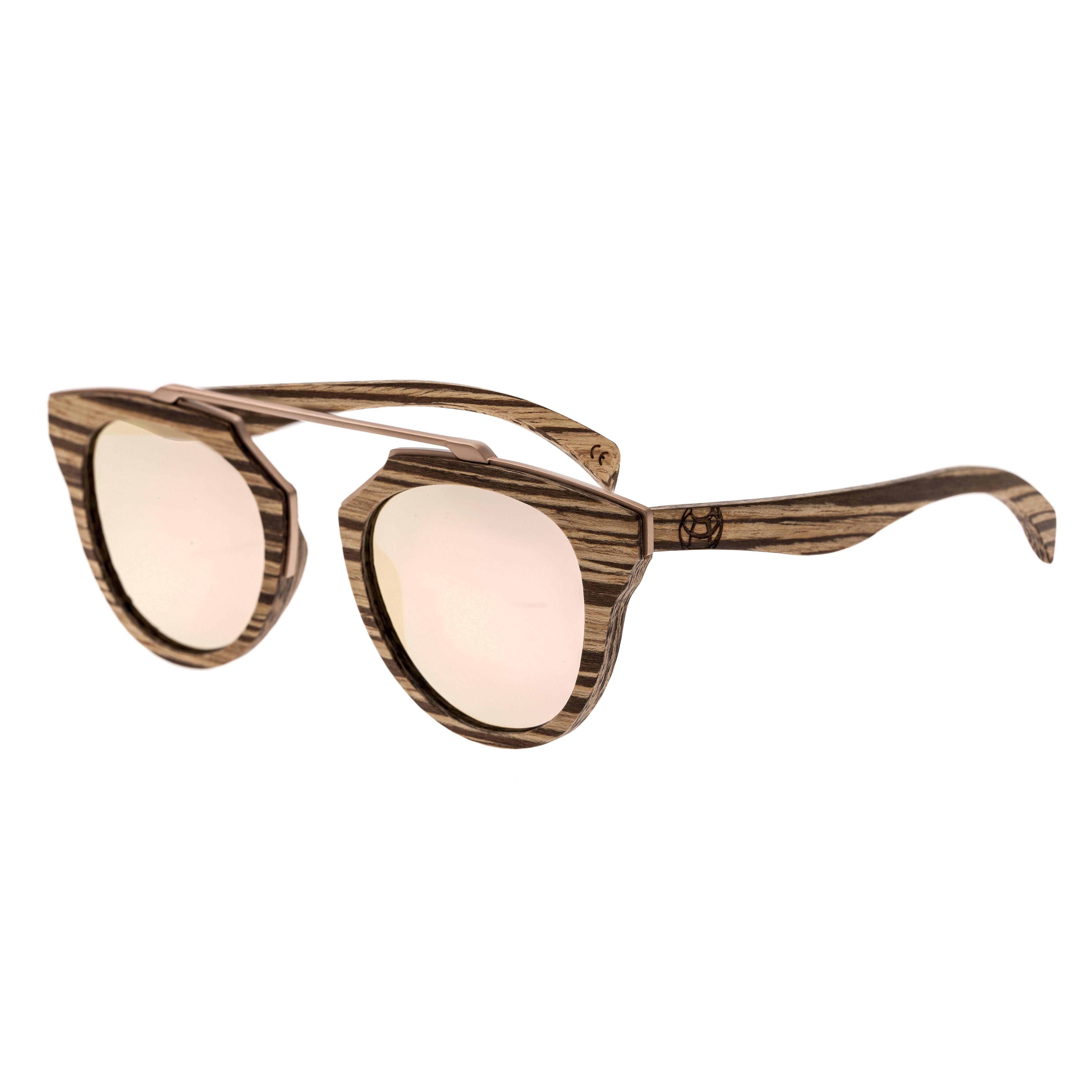 9538ddc487 Lyst - Earth Wood Ciera Sunglasses W  Polarized Lenses - Zebrawood ...